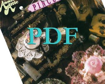 PDF - Antique Crochet Pincushions (hats), 8 crochet patterns, 1992