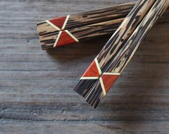 Palm Wood Chopstick Hairpin Unique Design & High Quality 100% Handmade