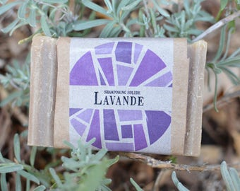 Solid shampoo with Lavender