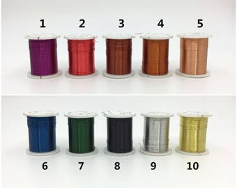 28 gauge wire etsy 03mm 28 gauge artistic wire 10 colors metal wire copper wire craft wire jewelry making greentooth Images