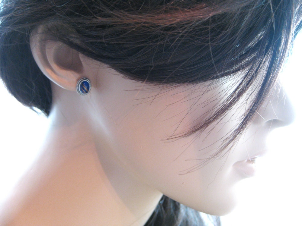 back pierced v handmade screw fine b fil yellow stud lazuli hadar earrings s lapis ebay designer blue bn gold