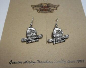 vintage harley davidson earings