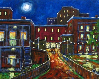 Balconville - Original Oil Painting created by Prankearts