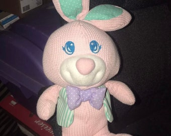 COZIES Thermal Pink BUNNY Rabbit Fisher Price Vintage Baby Plush