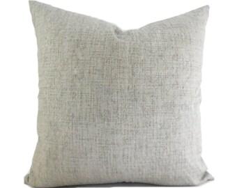 Outdoor Pillows Decorative Pillows Outdoor Pillow Covers ANY SIZE Pillow Cover Solid Grey Pillow Robert Allen Outdoor Weavescene Gray