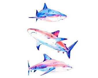 Sharks 3 -- Art Print