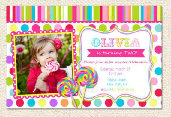 Lollipop birthday invitations filmwisefo