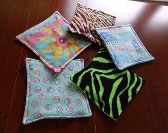 Pee Pad, Pet mat, Fleece Pad, Pet Pad,Cage liner,Hedgehog mat, Guinea pig pad, Cavy Shack mat, 6  Small animal pads for Polly