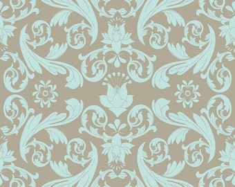 Emily Taylor for Riley Blake Designs - KENSINGTON - Damask in Gray - Cotton Fabric
