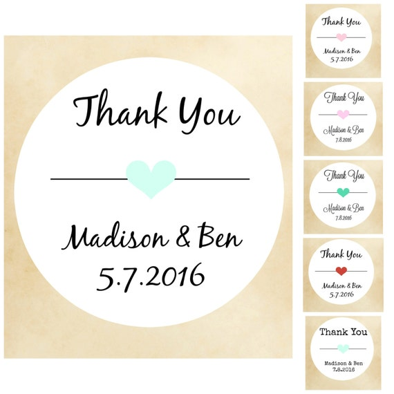 Thanks you stickers wedding stickers wedding labelsfavor