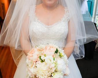 Powder Puff Brides bouquet