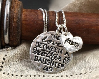 Love Between Mother & Daughter is Forever - Mom Gift - Daughter Gift
