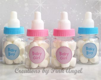 Charming Set Of 12 Baby Shower Favors, Baby Shower Baby Bottle Favors, Baby Shower  Games