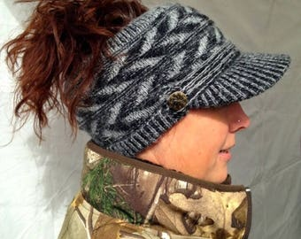Ponytail Hat: Sporty Style Open-Top Design - Available in Mixed Colors