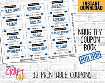 Sexy Coupon Book for Him, Sexy Coupons, Love Coupons, Sexy Coupons,  Anniversary