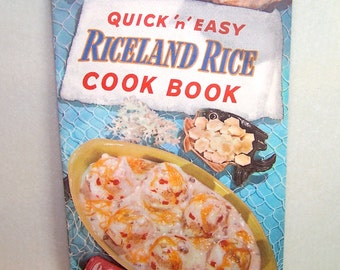 Vintage Kitchen Recipe Book Quick 'n' Easy Riceland Rice Cook Book Vintage Cookbooks Old Cookbook Illustrated Cookbook Ships from Canada