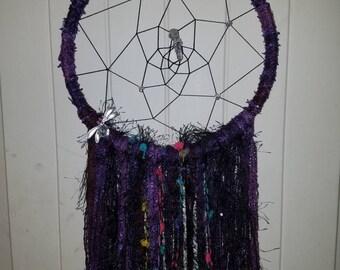 Purple Dragonfly Dreamcatcher