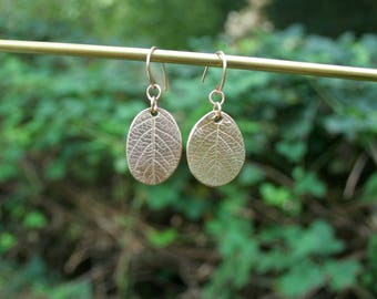 "Earrings ""leaf"" golden bronze"