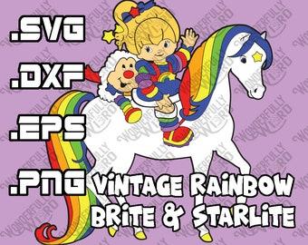Vintage Rainbow Brite and Starlite Multi Layer Cut File