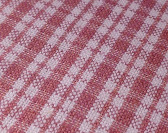 Rose Plaid - Vintage Fabric - Cotton - Primitive
