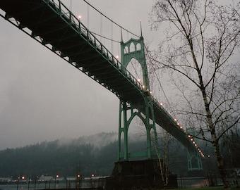 Foggy Evening, St. Johns Bridge