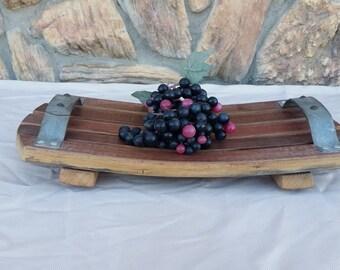 Wine Barrel Stave Serving Platter