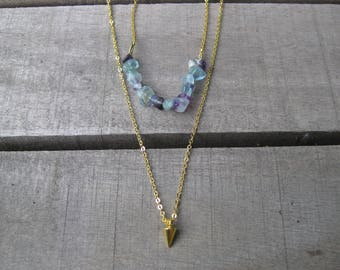 Double Stranded Fluorite Necklace