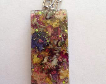 Real Flowers - Assorted Flowers and Colors Necklace