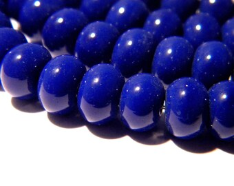 30 8 x 5 - abacus - pumpkin way jade glass beads - blue night F124 5