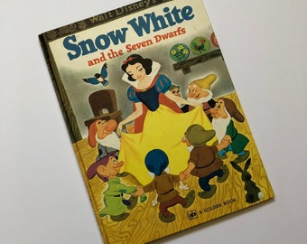 1973 Snow White & The Seven Dwarfs Large Golden Book