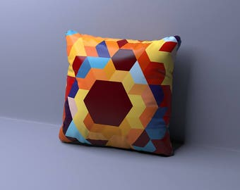 EURO Pillow, Euro pillow Cover - Navy Pillow - Blue - Euro Sham Blue - Mid Century Modern - Designer pillow - Euro pillow Case - Geometric