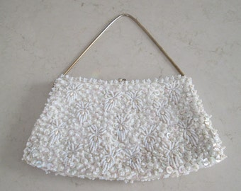 Goldco Beaded Purse with Chain Handle