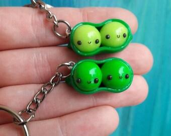 2 peas in a pod key chain