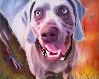 Custom pet portrait. Original oil painting. Dog portrait. Pet portrait. Pet portrait comission. Dog painting. Dog art
