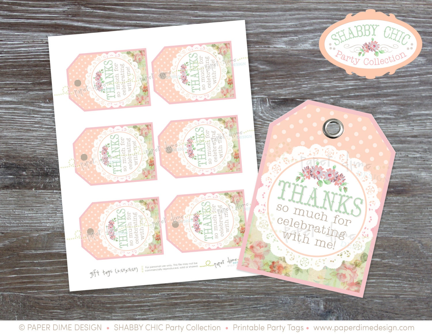 Instant download shabby chic gift tags vintage label zoom negle Image collections