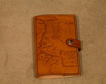 Handstitched Leather Moleskine Journal Cover Middle Earth Inspired