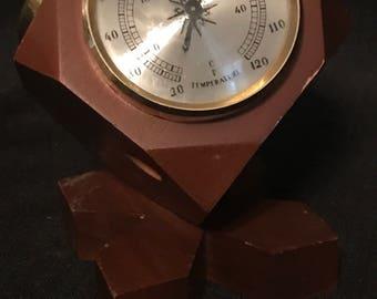 Vintage Weather Center Thermometer Vintage Desk Item  SALE PRICE was 22.00 now 20.00