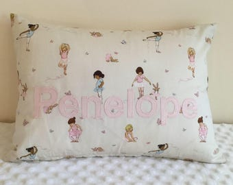 Personalised Belle and Boo fabric pillow