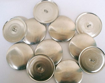 Size 75  (1 7/8 inch) - 100 Cover Buttons  -  Wire Backs