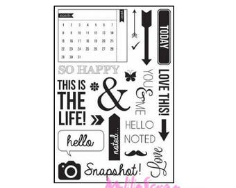 Clear stamp KAISERCRAFT acrylic stamp, stamp, scrapbooking, 24 pieces