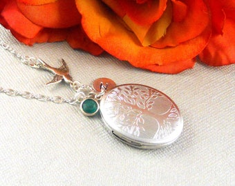 Sterling Silver Locket,Sterling Silver, Oval Sterling Silver Large Locket, Family Tree, Wedding Jewelry, Mothers Day