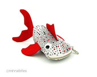 Pièce de monnaie sac - cadeau de bambin mignon panier cadeau - bourse aumônière - Pâques - poisson rouge Toy Bag - enfants cadeau sac - aquariophilie - prêt à l'expédition de poisson