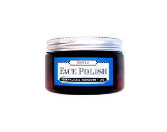 Vitamin C Face Polish, Exfoliator, Skin Polisher, Skin Brightener, Vegan Skin Exfoliator, RENEWAL FACE POLISH Cell Turnover