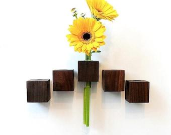 Magnet Vase Walnut flower vase test tube vase