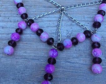 One off design necklace bracelet earring set