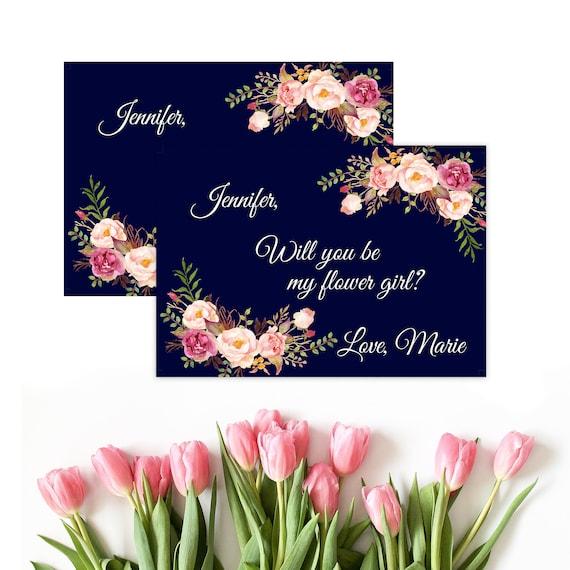 Ask Flower Girl Card Flower Girl Proposal Ask Flower Girl
