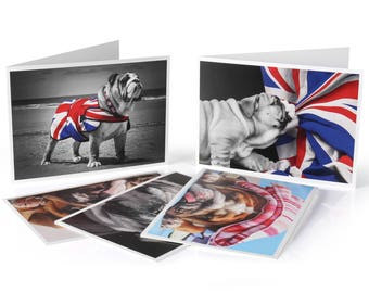 Set of 5 Limited Edition Bulldog Greeting Cards