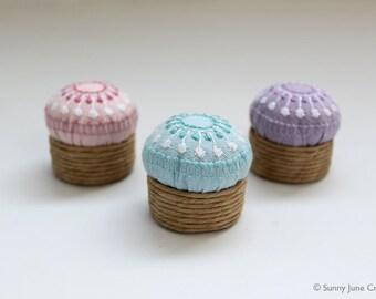 Embroidered mini pincushions
