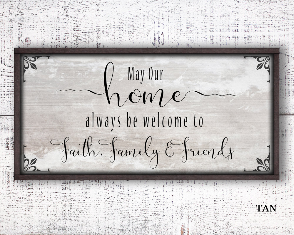 12x24 family sign, faith family friends, wood, wooden signs, rustic ...