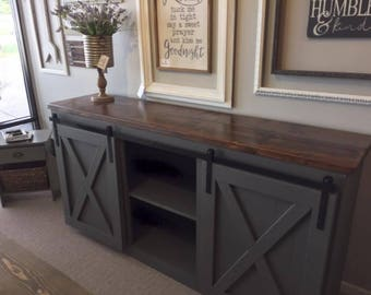 Sliding Barn Door Console (Local Pickup Only)